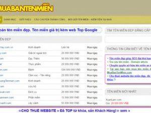 Mua bán tên miền đẹp - muabantenmien.com